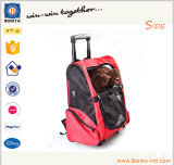 Cat Dog New Travel Pet Bag Car Pet Carrier Bag Mochila com carrinho