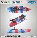 Solo kajak plástico barato de la pesca en mar