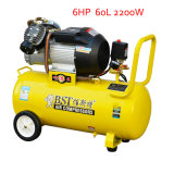 2200W 60L 6HP Portable Hand Screw Pistón Compresor de Aire