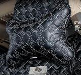 Чернота китайского узла формы косточки подушки шеи заголовника автомобиля Картин-Красная
