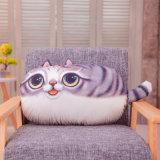 뒤 지원 폴리에스테 직물 고양이 장식적인 베개