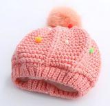 熱い販売の子供のかわいいPomponの帽子の帽子