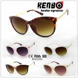 Tempiale speciale del metallo di disegno con gli occhiali da sole di plastica di modo del blocco per grafici Kp60380