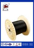 cable aéreo aislado PVC/XLPE de aluminio del manojo de la base 0.6/1kv