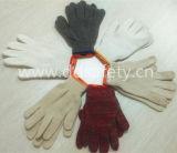 пряжи 7gauge 4 чернят перчатки Dck904 полиэфира хлопка