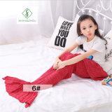 одеяло спального мешка одеяла кабеля Mermaid вязания крючком 90cm*50cm мягкое связанное