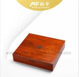 Caixa de presente luxuosa da moeda do retângulo do indicador da arte do MDF