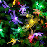 Colorful Christmas LED Solar Dragonfly String Light Fairy Holliday Outdoor Décoration de Noël Party Garden Path Décoration