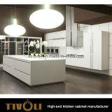 Мебель кухни ящика нажима Veneer Redwood открытая (AP125)