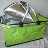 ギフトまたはショッピングのための卸し売りFoldable携帯用クーラーのピクニックバスケット