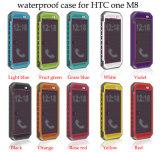 Cas imperméable à l'eau de téléphone cellulaire de première fabrication multicolore de vente pour HTC M8