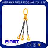 Tre imbragature a catena dell'acciaio legato dei piedini per alzare
