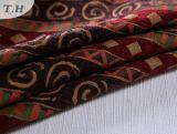 Panno rosso festivo del sofà del jacquard del Chenille prodotto dalla fabbrica della Cina