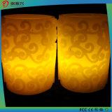 美しく装飾的なパターンFlamlessの蝋燭ライト
