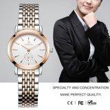 Preiswerte GroßhandelsEdelstahl-Quarz-Armbanduhr für Männer und Frauen 72018