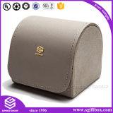 Caixa de relogio de couro de forma personalizada de luxo