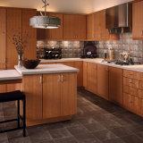ホーム家具のオレンジ錆の純木の食器棚
