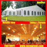 Barraca do famoso do banquete de casamento com forro e cortina 10m*12m