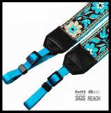 밝은 파랑 DSLR/튼튼한 꽃 패턴, 라이트급 선수 및 잘 덧대진 사진기 결박을%s 가진 SLR 사진기 결박