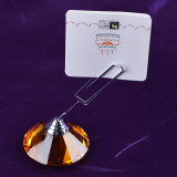 Memo de cristal Card Holder de Table Number Stand Wedding Favor