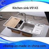 Utensilios de cocina del fregadero del acero inoxidable