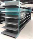Doppeltes - seitliches rückseitige Platten-Gondel-Supermarkt-Lebensmittelgeschäft-Regal