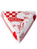 Rectángulo impreso insignia de encargo de la pizza de la dimensión de una variable del triángulo