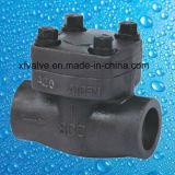 API602 800lb 1500lb 2500lb forjó la válvula de verificación del acero de carbón A105