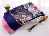 Frauen arbeiten gedruckten dickflüssigen Silk Blumenschal um (YKY1149)