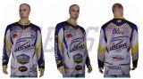 昇華する2015年のスポーツ・ウェアワイシャツの顧客用卸し売りトーナメント釣ジャージを採取する
