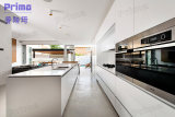 Alti armadi da cucina modulari lucidi UV moderni dell'armadio da cucina