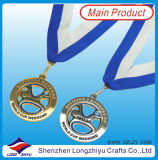 포르투갈 3D Cheap Wholesale Custom Medal Plated Gold와 Antique Silver