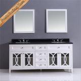 競争のPrice Floor -取付けられたHot Sell Wood Bathroom Vanity
