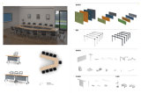 熱販売のオフィス用家具の管理の机の事務机