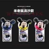 Sostenedor del anillo de Mickey Mouse de la arena movediza de los accesorios del teléfono móvil