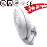 Mangueira de incêndio orientada para a exportação do revestimento do dobro de alinhamento do PVC de 8 polegadas