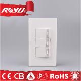 2つの方法世帯の電気壁力ボタンスイッチ