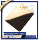 SUS201 304 feuille d'or d'acier inoxydable du miroir 430 4X8