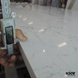20MM الأبيض بلاطة بلاطة حجر الكوارتز الاصطناعي للجدار (KKR-Q1408052)