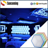 Decoración del panal DIY del LED 3D y contexto encendido etapa