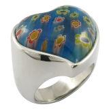 Anillos de dedo de la piedra de la piedra preciosa de la flor