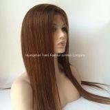 """24 """" langes Silk gerades Remy Haar-volle Spitze-Perücken # dunkelrotes #99j"""