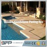 Goldene natürliche Stein-/Sandstein-Fliese für den fertig werdenen/Pool-Pflasterung Swimmingpool