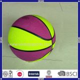 Billes en caoutchouc multicolores ou d'impression de promotion de basket-ball