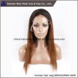 Madame Wig de perruque de lacet d'avant de cheveux humains de la vente en gros 100%