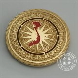 Antike Gold-/Kupfermünze, helles Gold/kupferne Medaille (GZHY-JZ-001)