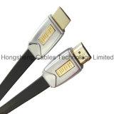 Kabel HDMI van het Metaal van de hoge snelheid de Vlakke voor de Speler van Blu Ray, 3D Televisie met Ethernet