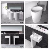 Раковина ванной комнаты смолаы каменная Freestanding, тазик постамента
