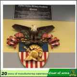 Emblème national de la Russie d'aigle d'or en métal