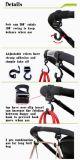 De Haken van de Wandelwagen van de baby met Regelbare Klitband binden Ideal voor het Hangen vast